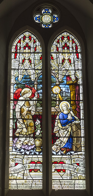 annunciation x 3 171 stained glass from welsh churches