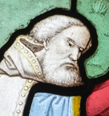 stained glass portrait of a man